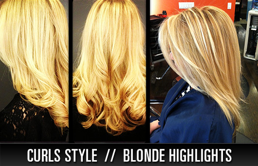 Curls Style //  Blonde Highlights