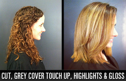 Cut, Grey Cover Touch Up, Highlights and Gloss