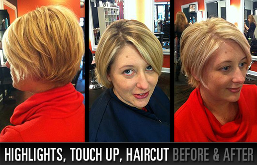 Highlights, Touch Up and Haircut